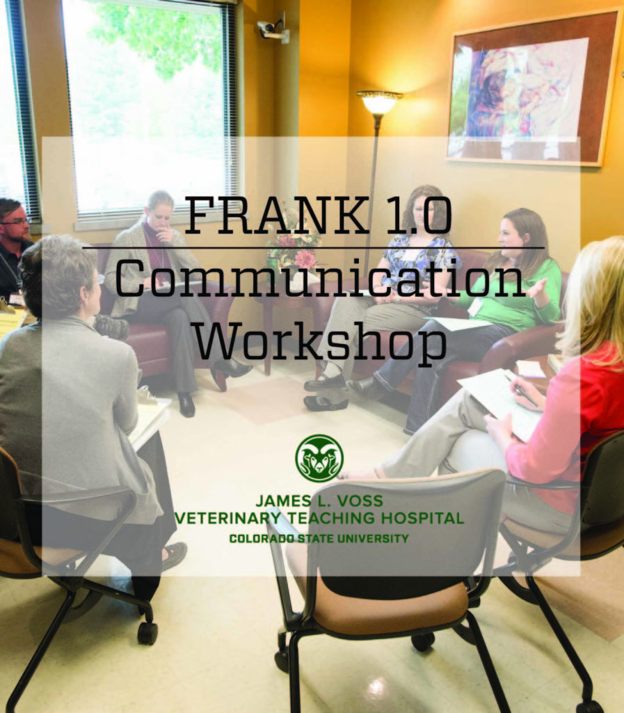 Practicing Veterinarians learn communications skills during workshops at the FRANK Institute at the Veterinary Teaching Hospital, June 7, 2014 Practicing Veterinarians learn communications skills during workshops at the FRANK Institute at the Veterinary Teaching Hospital, June 7, 2014